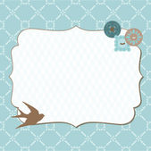 Beautiful Retro Card with photo frame- for invitation, greetings — Vector de stock