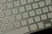 Right part silver keyboard — Stock Photo