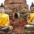 Buddha in ancient remains - Stock Photo