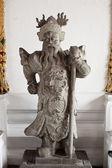 Chinos guerreros de piedra talladas. — Foto de Stock