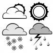 Stock Vector: Meteorology icons