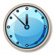 Stock Vector: Vector blue clock