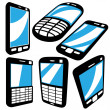 Phones set — Stock Vector