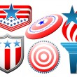 Vector american symbolics set - Stock Vector