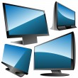 Monitors set — Stock Vector