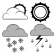 Meteorology and weather signs — Stock Vector
