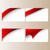 Vector red corner ribbons — Stock Vector