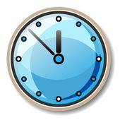 Vector blue clock — Stockvektor