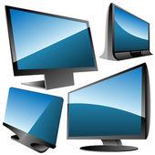 Monitors set — Stock Vector