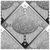 Emboss silver platten mönster — Stockvektor