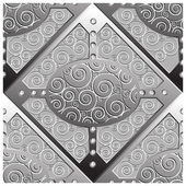 Emboss zilveren platten patroon — Stockvector
