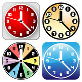Clock set vector — Stock Vector