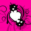 Vector background with hearts — Stock Vector #6396694