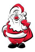 Cheerful Santa — Stock Vector