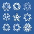 Royalty-Free Stock Vector Image: Set of snowflakes