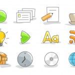 conjunto de iconos — Vector de stock