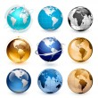 Icons of Earth - Stock Vector