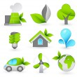 Green icons — Stock Vector