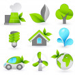 Royalty-Free Stock Vector Image: Green icons