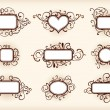 Set of frames — Stock Vector