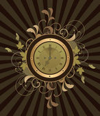 Interesante reloj — Vector de stock