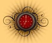 Interesting Clock — Stock Vector