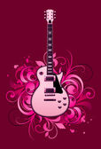 Abstract with electric guitar — Stock Vector