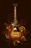 Abstract with guitar — Vector de stock