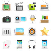 Media icons — Stock Vector