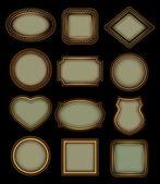 Set of retro frames — Stock Vector