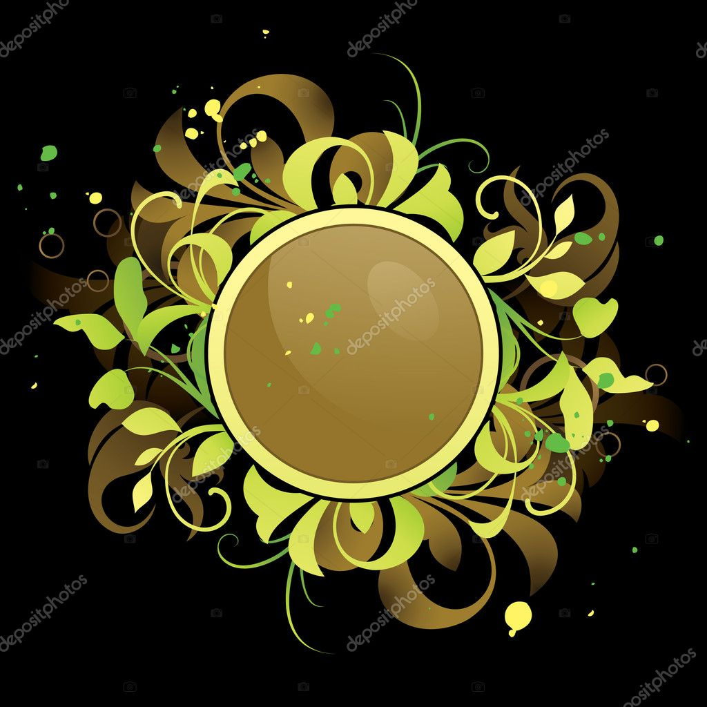 Frame with floral elements — Stock Vector #6673236