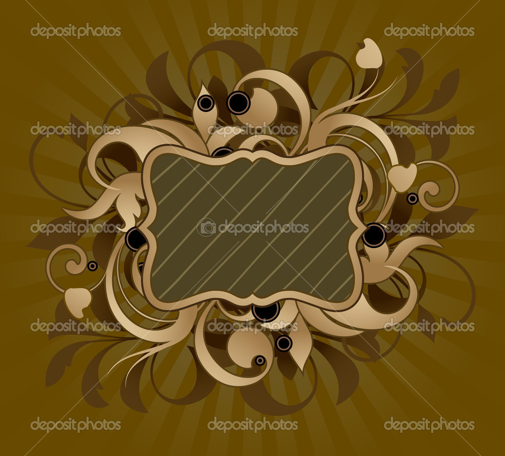 Floral frame  Imagen vectorial #6673305
