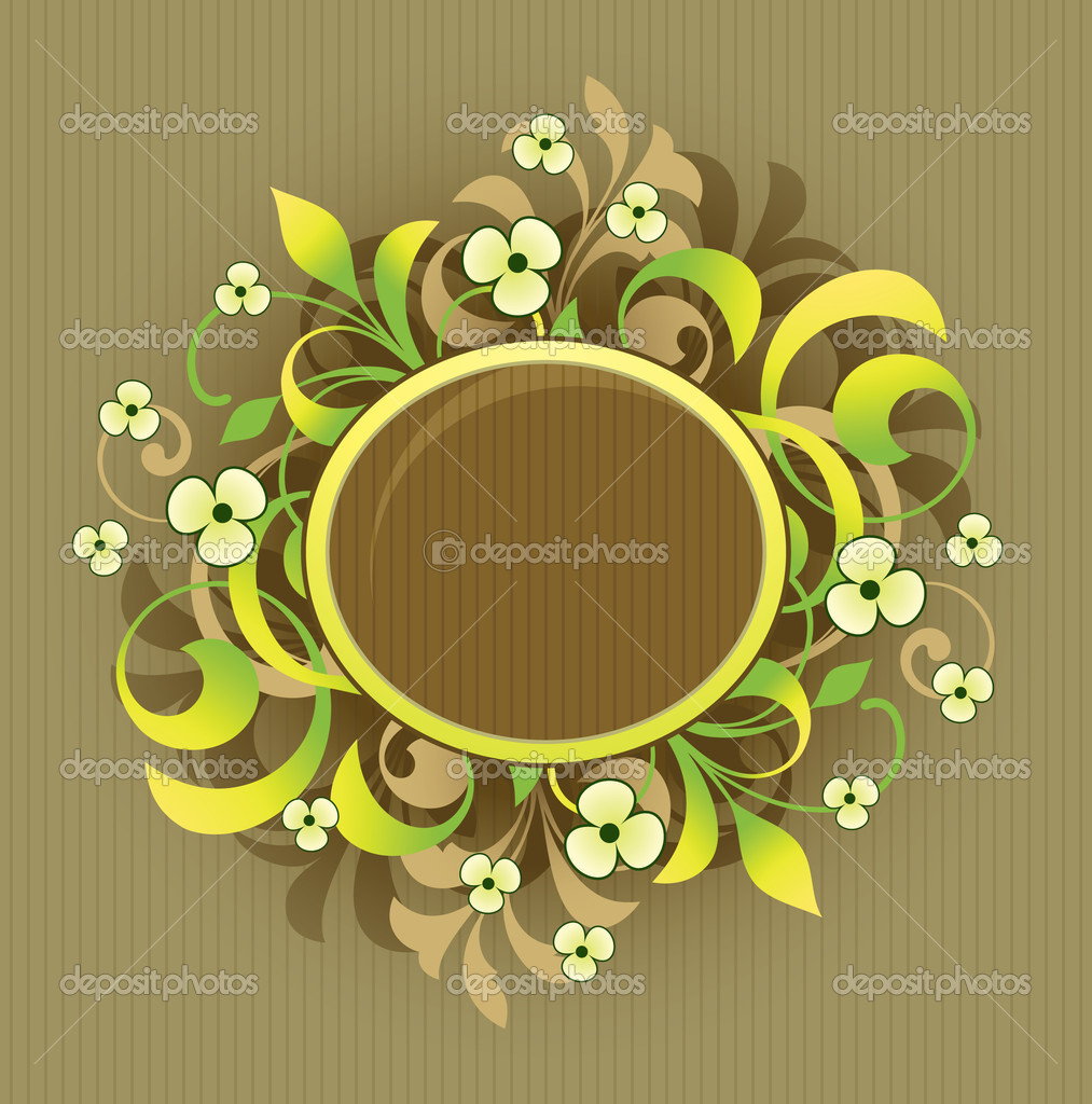 Frame with floral elements  Stock Vector #6673358