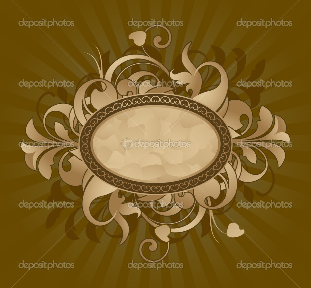 Floral frame — Stock Vector #6673456