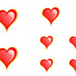 Stock Photo: Hearts set