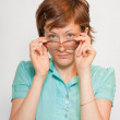 Stock Photo: Portrait of girl with glasses