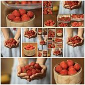 Strawberry set — Stock Photo