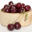 Cherries in the basket — Stock Photo #6225056