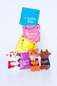 сумки и игрушки — Стоковое фото