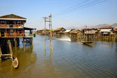 Village house on Inle Lake — Foto Stock