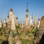 Buddhist Stupas. Indein — Stock Photo