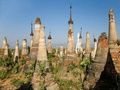 Buddhist Stupas. Indein — Stock Photo