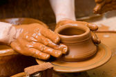 Potter's Hands — Stock Photo