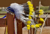 Headdress of Native north American Indian — Stock Photo