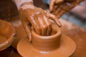 Potter's Hands — Stock Photo