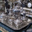 Stock Photo: Antique silver Teset
