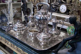 Antique silver Tea set — Stock Photo