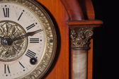 Antique clock close up — Stock Photo