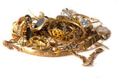 Gold scrap — Stock Photo