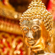 Gold face of Buddha statue in Doi Suthep temple, Chiang Mai, Thailand. — Stock Photo